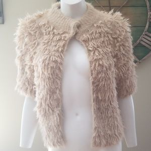Knitted & Knotted  Fuzzy Cardigan